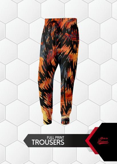 013 spodnie dresowe full print