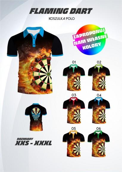 polo shirt Flaming Dart